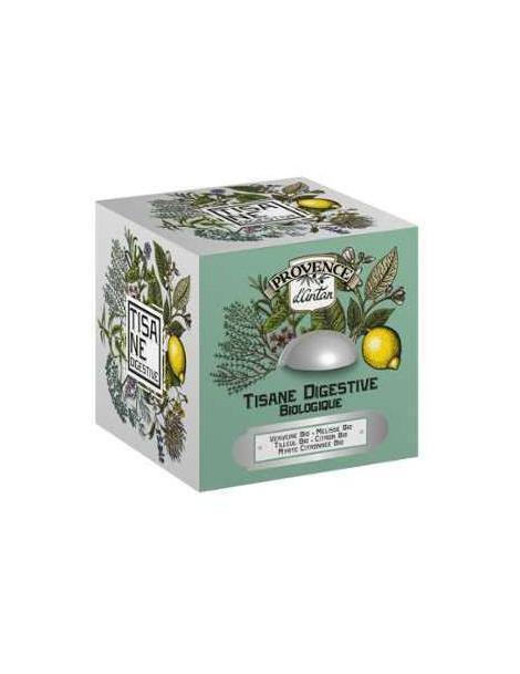 Provence d'Antan Tisane Be Cube Digestive bio 24 sachets 36 gr boite métal