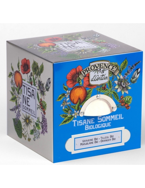 Provence d'Antan Tisane Be Cube Sommeil bio 24 sachets boite métal