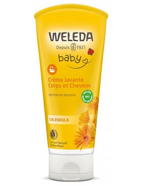 Crème lavante corps et cheveux au Calendula bébé 200ml Weleda