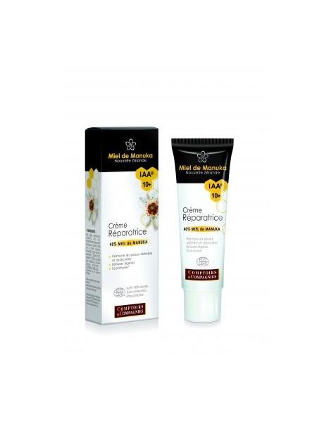 Crème réparatrice bio 40% miel de Manuka UMF/IAA 10+ 40 ml Comptoirs et Compagnies