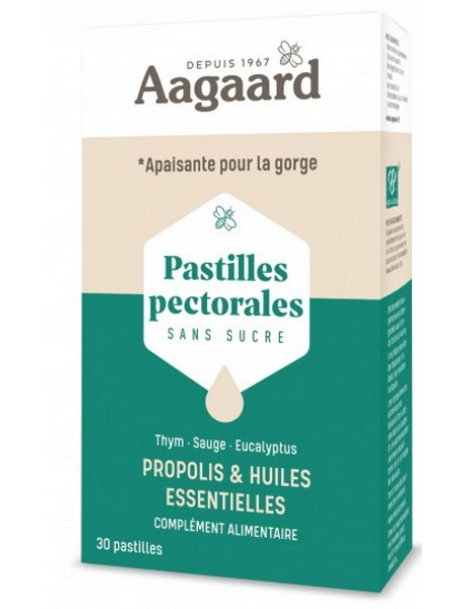 Pastilles pectorales Apais'toux 30 pastilles Aagaard
