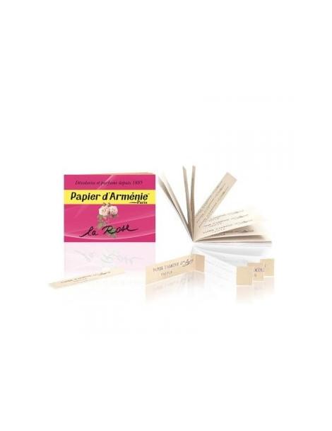 Papier d'Arménie Rose Carnet de 36 lamelles Papier d'Armenie