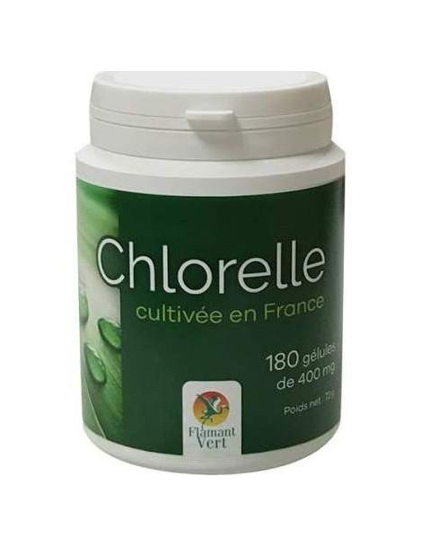 Chlorelle 180 gélules de 400 mg Flamant Vert