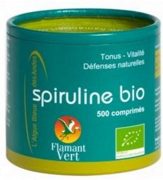 Spiruline bio 500 comprimés de 500 mg Flamant Vert
