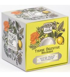 Provence d'Antan Tisane cube Digestive bio 24 sachets 36g recharge carton