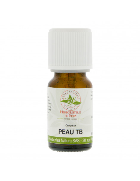 Complexe huiles essentielles Peau TB 10ml Herboristerie de Paris tâches brunes usage cosmétique