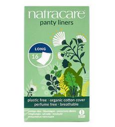 protèges slip naturels incurvés longs 16 unités Natracare