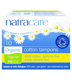 Tampons normaux sans applicateur 10 unités Natracare