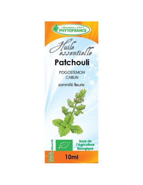 Huile essentielle de Patchouli 10 ml Phytofrance Herboristerie de paris