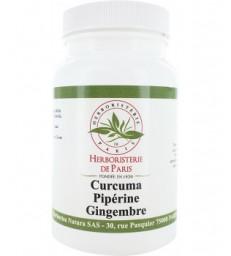 Curcuma Pipérine Gingembre 90 gélules - Herboristerie De Paris