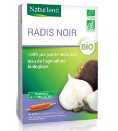 Radis noir 20 AMPOULES Bio Naturland Herboristerie de paris