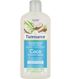 Shampooing extra doux usage fréquent coco et kératine végétale 250ml Natessance