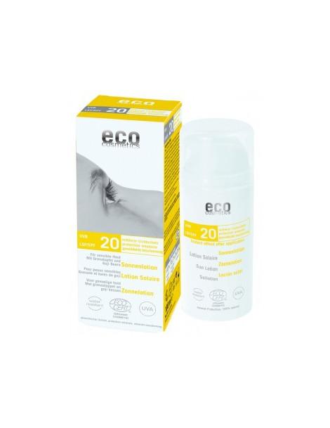 Lotion Solaire indice 20 Grenade et Baies de Goji 100ml Eco Cosmetics