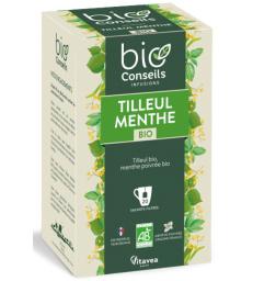 Bio Conseils Infusion Tilleul Menthe bio 20 sachets tisane herboristerie de paris