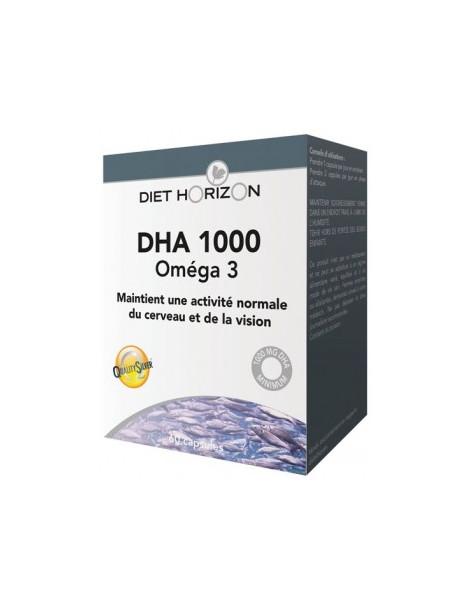DHA 1000 Oméga 3 60 capsules Diet Horizon acide docosahexaénoïque Herboristerie de paris