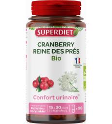Cranberry bio reine des prés 90 gélules Super Diet