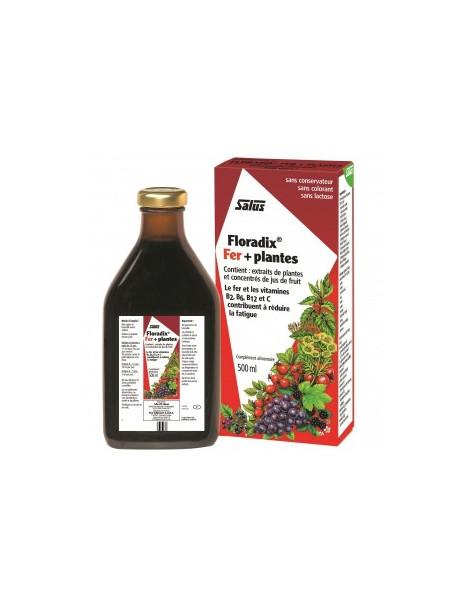 Floradix Fer + Plantes 500 ml Salus