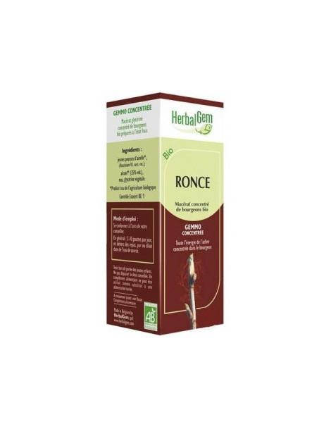 Ronce bio Flacon compte gouttes 50ml Herbalgem Gemmobase