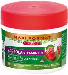 Acérola 500 Vitamine C naturelle 90 comprimés Super Diet
