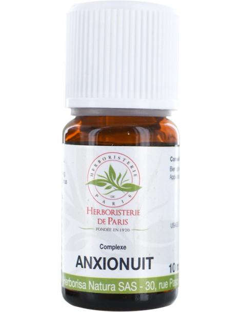 Complexe d'huiles essentielles Anxio nuit 10ml Herboristerie de Paris