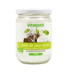 Huile de coco vierge Plaisir culinaire et soin corporel parfum noix de coco 400g Vitaquell