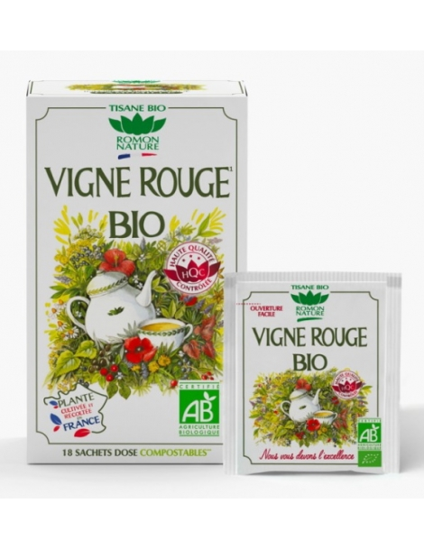 Tisane Vigne rouge bio 20 sachets 34g Romon Nature