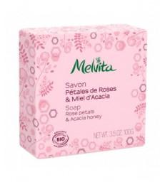 Savon Pétales de rose et miel d'acacia 100g Melvita