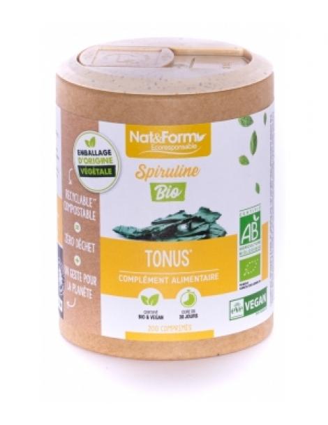Spiruline Bio 200 comprimés Nat et Form phycocyanine Herboristerie de paris