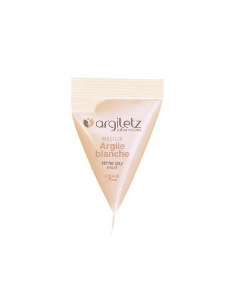Berlingot masque argile blanche 15ml Argiletz