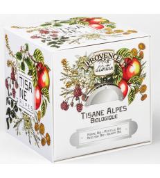 Tisane Be Cube des Alpes bio 24 sachets 60g recharge carton Provence D Antan