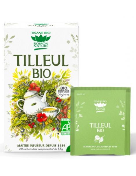 Tisane Tilleul bio 20 sachets 32g Romon Nature