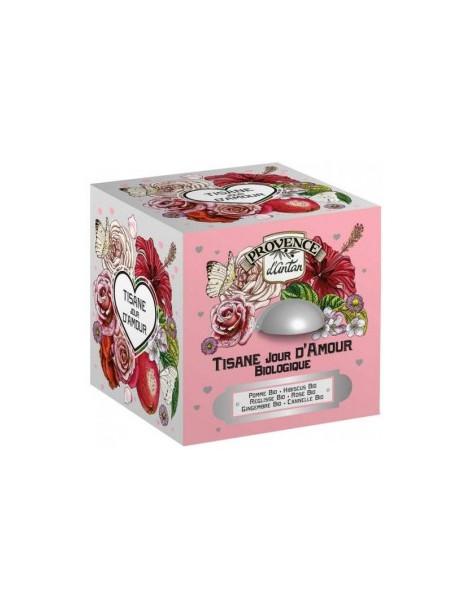 Tisane Be Cube Jour D'amour bio 24 sachets 60 gr boite métal Provence D Antan