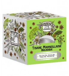 Tisane Be Cube Marseillaise bio 24 sachets 60g recharge carton Provence D Antan