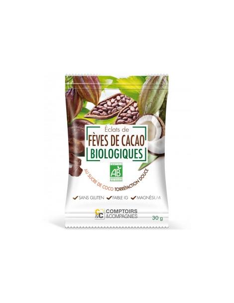 Eclats de Fèves de Cacao enrobées de Sucre Coco 30g
