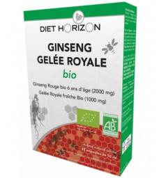 Ginseng Gelée Royale bio 20 ampoules de 10ml Diet Horizon