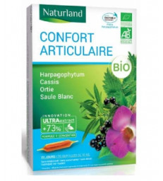Harpagophytum Cassis Ortie Saule blanc Bio ampoules 20x10ml Naturland