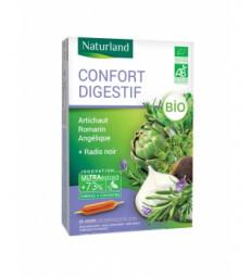 Confort Digestif Artichaut Romarin Angélique Radis noir Bio 20 ampoules Naturland