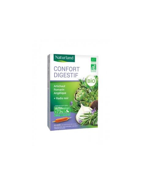Confort Digestif Artichaut Romarin Angélique Radis noir Bio 20 ampoules
