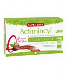 Actimincyl au Guarana action brûle graisse goût ananas 20 ampoules de 15ml Super Diet