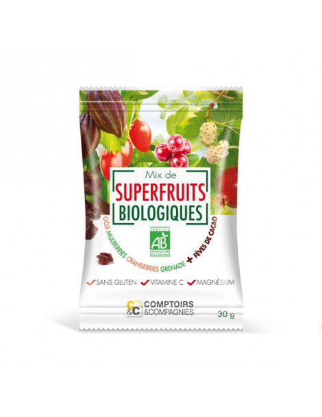Mix de Superfruits Eclats de Fèves de Cacao 30g