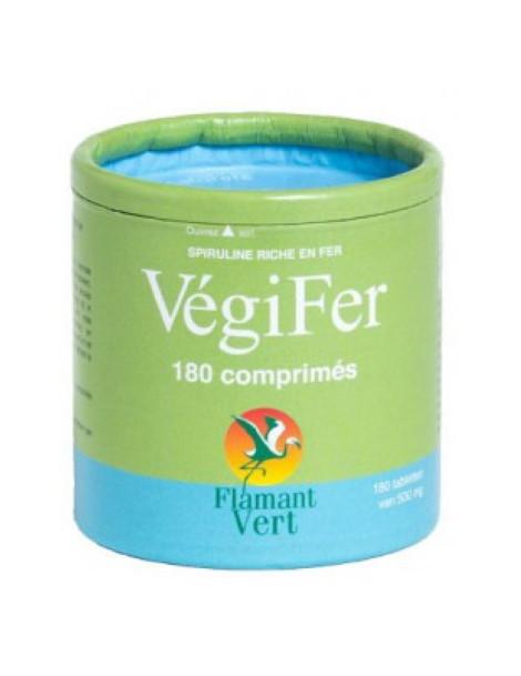 Végifer 180 comprimés Flamant Vert spiruline et fer Herboristerie de paris