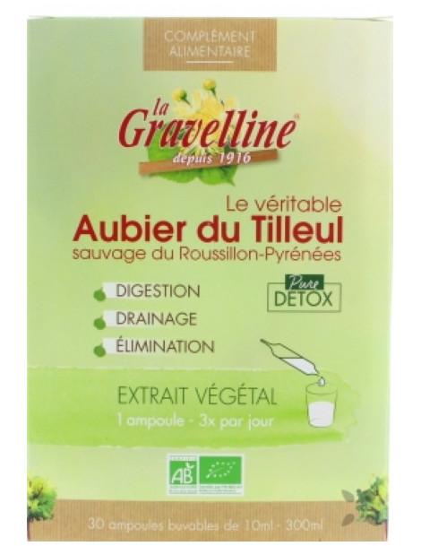 Aubier de Tilleul 30 ampoules bio La Gravelline, dépuratif , herboristerie de Paris