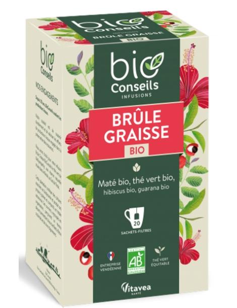Infusion Brûle-Graisse bio 20 sachets filtre Bio Conseils herboristerie de paris