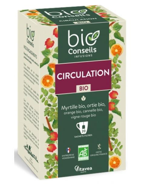 bio Conseils Infusion Circulation bio 20 sachets filtre herboristerie de paris