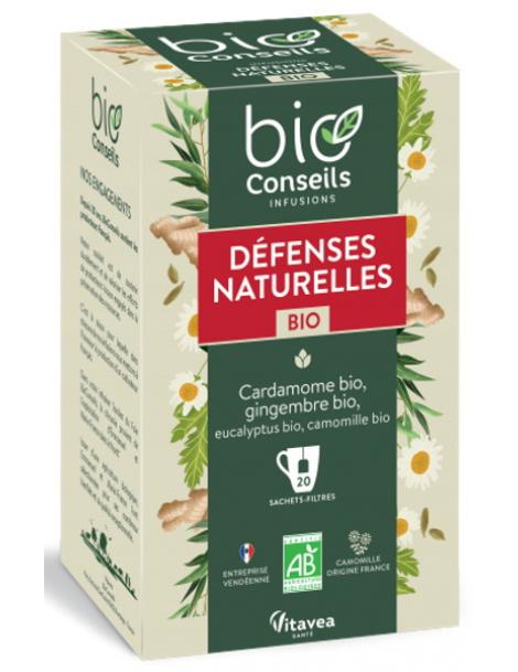 Infusion Défenses Naturelles bio 20 sachets filtre Bio Conseils herboristerie de paris