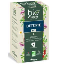 Infusion Détente bio 20 sachets filtre Bio Conseils