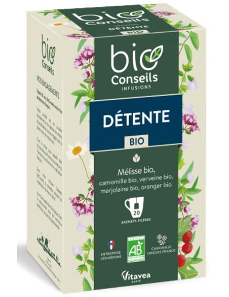 Bio Conseils Infusion Détente bio 20 sachets filtre Herboristerie de paris