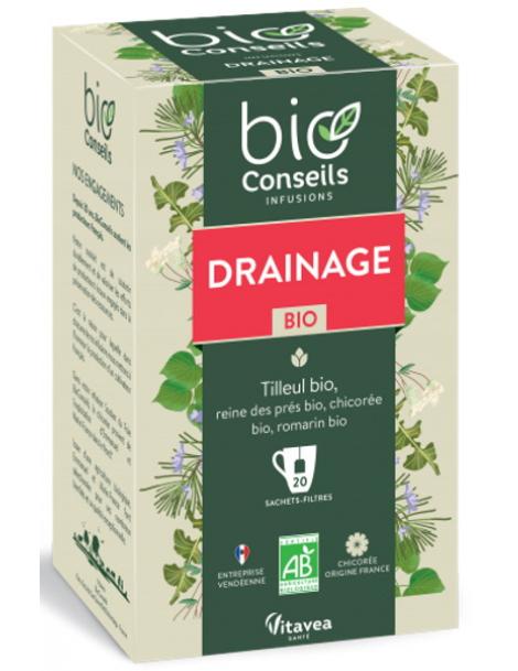 Bio Conseils Infusion Drainage bio 20 sachets filtre Herboristerie de paris