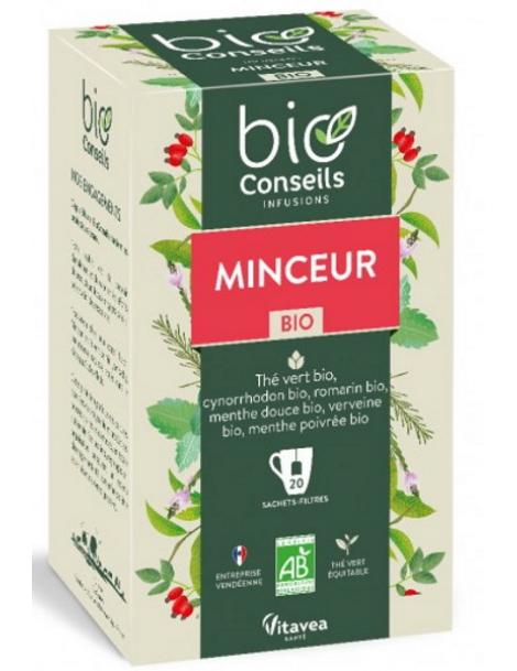 Bio Conseils Infusion Minceur bio 20 sachets filtre Herboristerie de paris