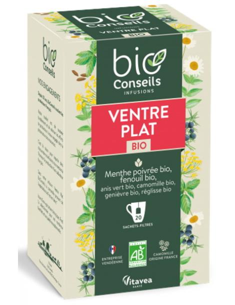 Bio Conseils Infusion Ventre Plat bio 20 sachets filtre Herboristerie de paris